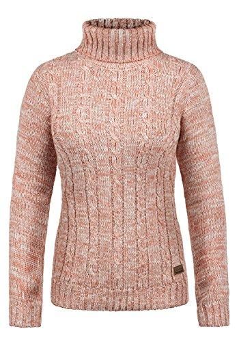 Desires philipa maglione col collo alto pullover in maglia dolcevita da donna con collo alto in cotone 100%, taglia:l, colore:powder rose (5178)