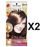 Schwarzkopf Country Colors Farben Col 65 Highlands Kastanienbraun X 2 Packungen