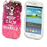 Voguecase TPU Silicone Shell Housse Coque �tui Protecteur Case Cover Pour Samsung Galaxy S3 Mini i8190 (Rose keep calm)