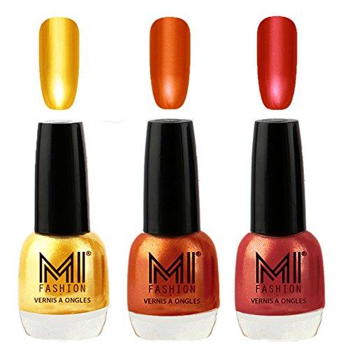 MI Fashion® Crazy-Chromey-Shiny Luxurious Collection of Chrome Nail Polish Set of 3, Extra Shine on Nails with Non Toxic Power Lasting Formulation