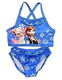 Inception Pro Infinite Taglia 100-2-3 Anni - Costume da Bagno - Elsa & Anna - Adatto a Bambina - Colore Blu - Due Pezzi
