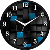 #7: Cartoonpur 11 inches Analog 3D Cubes Silent/Sweeping Movement Plastic Wall Clock with Glass