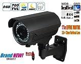 BW HD telecamera di sicurezza 700TVL Sony Effio-e esterna impermeabile IR CCTV 2.8-12Zoome & Focus IR 40m Long Distance Night Vision per sistema di sorveglianza domestica