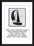 Nie kreuzen Sie das Ozean-Segeln-Zitat 11 x 14/8 x 10/5 x 7 A3 / A4 / A5 Druck-Typografie-Grafik, Geschenk für Segel-Fans - 'Never Cross The Ocean' Sailing Quote