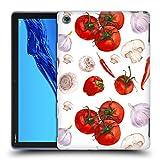 Head Case Designs Ufficiale Haroulita Pomodori Cibo - Frutti Cover in Morbido Gel Compatibile con Huawei MediaPad M5 Lite