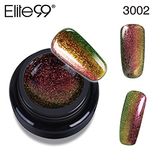Elite99 Gel-Nagellack, Chameleon-Farbe, 3D Glitzer LED UV Soak-off, 5 ml 3000 (Harmony Gel-glitter)