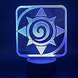 Anime Ladrón De Mar Wang Lufei, Luz de noche, ilusión 3D luz de noche, 16 colores, LED, control remoto, el mejor regalo, casa de campo, decoración