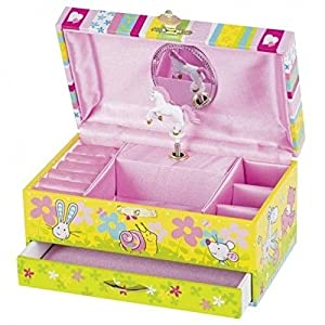 Goki 60851 Musical Box Juguete Musical - Juguetes Musicales (Toy Musical Box, Chica, Multicolor, Cartón, Madera, 193 mm, 110 mm)