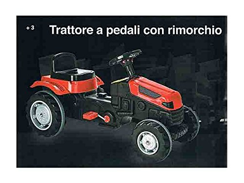 Traktor mit Pedalen mit Anhänger Active 1320/rgioco Spielzeug Geschenk # AG17 - Baby-pedal-traktor