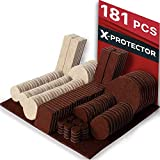 Feltrini adesivi X-PROTECTOR - Feltrini per mobili 181 pezzi - Kit feltrini due colori - Feltrini mobili di ogni tipo - Feltrini sedie tondi e non standard - Proteggi i tuoi pavimenti!