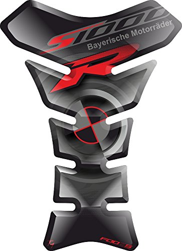 Motorrad Gas Displayschutzfolie Aufkleber/3D Gummi Fuel Tank Pad Tankpad Displayschutzfolie Aufkleber für BMW S1000R S1000 S 1000 R BMWS1000 BMWS1000R S-1000R S-1000 (Schwarz)