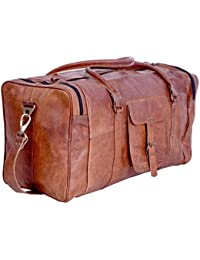 kpl 21 pulgadas Vintage Piel Bolsa de viaje Gimnasio Deporte durante la  noche Fin de Semana Cyber de lunes… 3738704cf2d2b