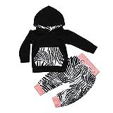 Baby Kleidung CLOOM Junge Mädchen Outfits Set Hoodie langarm jacke Retro Blatt Drucken Kapuzenpullover tops + Weich Baumwolle Hosen Mode Anzug Set (70, Rosa)