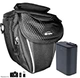 Zubehör Starterset für Panasonic Lumix DMC-FZ48 - Schicke Kamera Tasche - mit passgenauer equipster Folie und Ersatzakku zu BMB9E