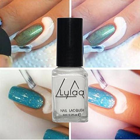 Lulaa Peel Hors Liquide Ruban adhésif Latex Ruban adhésif Décollez Base de Manteau Des ongles Art Liquide Palissade Blanc