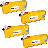 4x Kraftmax Akku für Bosch SOMFY K8 K10 K12 - 6V / 2000mAh NIMH - Hochleistungs- Akku mit über 42% mehr Leistung gegenüber den Akku mit 1400 mAh