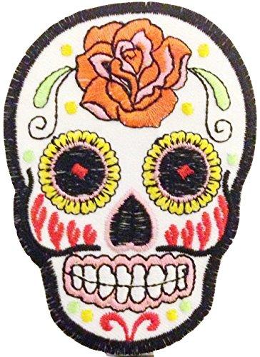 Aufnäher für Jacken Aufnäher Aufbügler Patches Sticker Mexiko Sugar Skull tattoo Biker Rockabilly 6 x 9 cm Mexiko-jacke