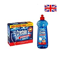 Crystale Starter Combo Dishwasher Tablets and Dishwasher Rinse Aid