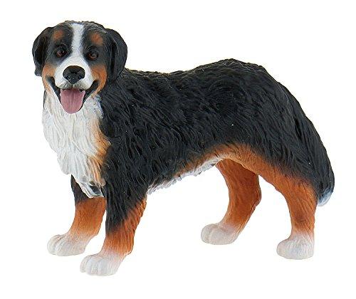 Bullyland 65449 - Spielfigur, Berner Sennenhund Bianca, ca. 7,5 cm groß, liebevoll handbemalte Figur, PVC-frei, tolles Geschenk für Jungen und Mädchen zum fantasievollen Spielen