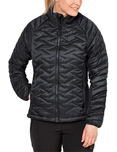 Jack Wolfskin Damen Icy Water Jacke Wattiert, Black, XL