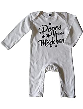 Mikalino Baby Schlafanzug Papas kleines Mädchen langarm