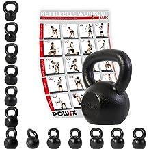 Kettlebell hierro fundido 4 kg, 6 kg, 8 kg, 10 kg, 12 kg, 14 kg, 16 kg, 18 kg, 20 kg - Ideal para la práctica del entrenamiento funcional y del ...