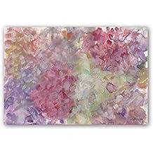 Cuadriman Abstractos Cuadro Verona, Madera, Lila y Rosa, 60x90x3 cm