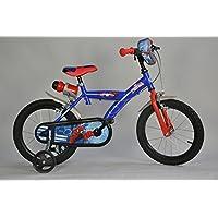 Cicli Ferrareis Bici da Bambino Bici Bimbo bicicletta Dino Spiderman 16 per Anni 4-5