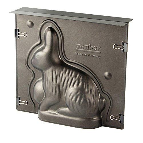Zenker Hasen Backform, Hasenform mit Antihaftbeschichtung für Ostern, Osterhasen-Backform (Kuchenform: ca.190x215x60 mm), Menge: 1 Stück