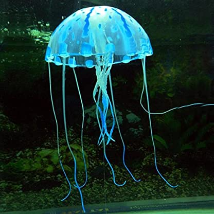 Pink Glowing Effect Artificial Fake Jellyfish for Fish Tank Decoration Ornament 7