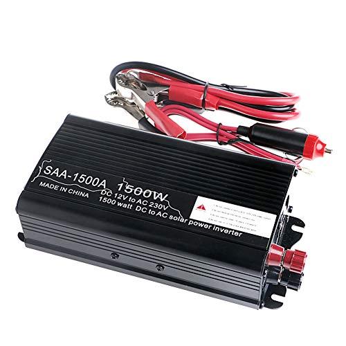 Solar-Wechselrichter, Solar-Wechselrichter, 3000 W Spitze, 12 V DC auf 230 V Wechselstrom, modifizierter Sinuswellenwandler