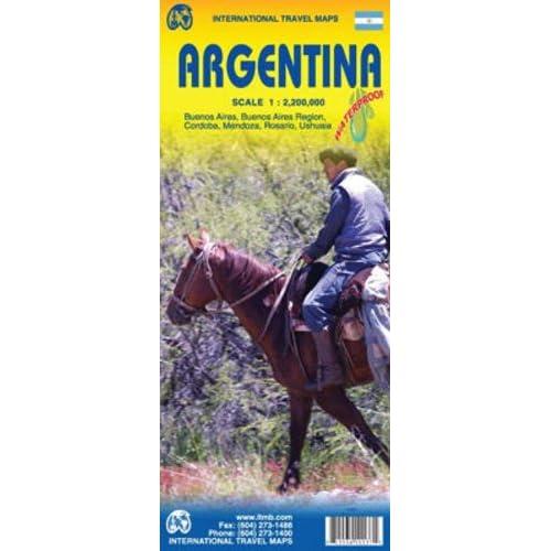 International travel maps - Argentina - buenos aires/Region, Cordoba, Mendoza ,Rosario , Ushuaia - Echelle 1:2,200,000
