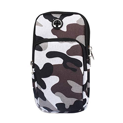 FXNWAQRunning Armband Sports Camouflage Luggage Universal Smart Phone Waterproof Mobile Headset Key Arm Bag UnisexAviation (Mp3 Headset Aviation)