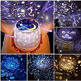 LED Nachtlicht Kinder Projektor Lampe LED Grandbeing Nachtlicht Kinder 360° Drehen Automatisch Abschlaten Sternenhimmel Projektor Baby Nachtlicht für Geburtstag Party USB Halloween Weihnachten