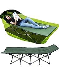 BUSL hojas de cama plegable al aire libre espesantes personas cama de la siesta que acompaña el equipo de camping