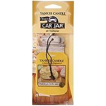 Yankee Candle 1158159E Diffuseur senteur Vanilla Cupcake/Gâteau Vanille pour Voiture Carton Jaune 7,8 x 19,7 x 0,7 cm