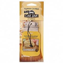 YANKEE CANDLE 1158159E Profumatore per Auto Vanilla Cupcake/bigné della Vaniglia, Giallo, 7.8×19.7×0.7 cm