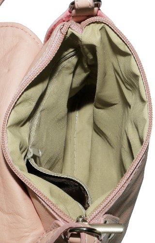 Italienische weiches Leder, kleine und mittlere Messenger Kreuz Körper oder Umhängetasche Handtasche.Umfasst eine Marke schützenden Aufbewahrungstasche. Babyrosa
