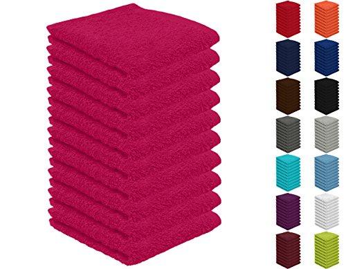 10er Pack Seiftücher, Seiflappen in vielen Farben 30x30 cm Magenta 100{96a369357b7e17f71cf4c4205b23477a1233335fa089dacb4042cf7a9cd3f04c} Baumwolle