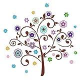 60X90 Cm Bunte Kreative Muster Baum Diy Dekorative Wandaufkleber Wandaufkleber Kunst Wand
