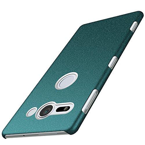 anccer Sony Xperia XZ2 Compact Hülle, [Serie Matte] Elastische Schockabsorption und Ultra Thin Design für Sony Xperia XZ2 Compact (Kies Grün)