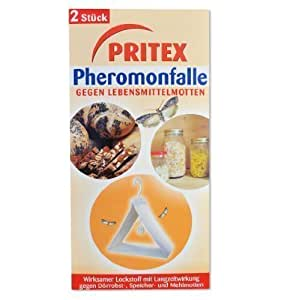 pritex pheromonfalle gegen lebensmittelmotten 2 st ck gegen speicher motten mehl motten. Black Bedroom Furniture Sets. Home Design Ideas