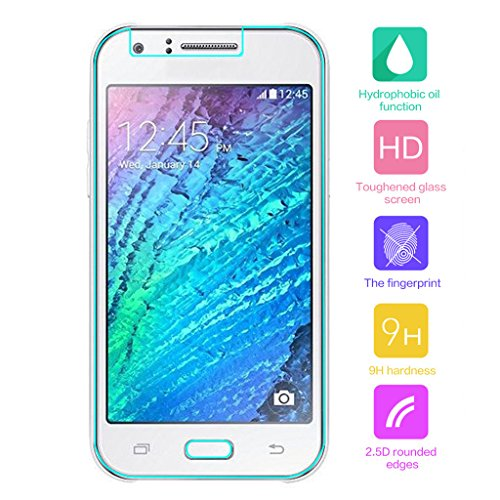 Cuitan Premium 9H Dureza Vidrio Templado Protector de Pantalla para Samsung J3, 0.3mm Grueso Anti-Rasguños Anti-Huella Digital Clear Transparente Cristal Templado Protectores de Pantalla Tempered Glass Screen Protector Film Protection Screen -