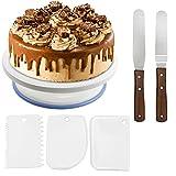 WisFox Tortenplatte drehbar Tortenständer Kuchen Drehteller Cake Decorating Turntable mit