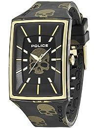 Police PL.13077MPBG/02 - Reloj para Hombres, Correa de Silicona Color Negro