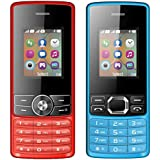 I KALL 1.8 Inch (4.57 Cm) Dual Sim Feature Phone Combo - K24 (Red) And K25 (Blue)