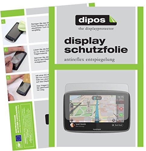 TomTom Go 620 / 6200 Schutzfolie - 3x dipos Displayschutzfolie Folie matt