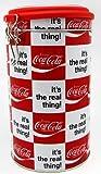 Kaffeedose Aromadose Coca Cola rot-weiß kariert