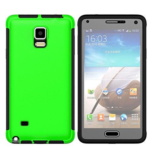 Note4 Coque,EVERGREENBUYING Etanche Etui de Protection [Seulement goutte étanche] N9100 Housse étui Anti-Choc Anti-Neige Pare-Poussière Case Cover pour Samsung Galaxy Note 4 Rose Vert