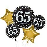 Amscan International–3214801'sparkling 65th cumpleaños ramo de globos de'